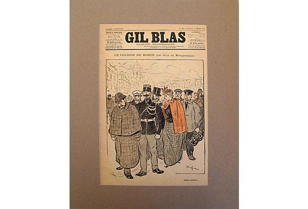 Gil Blas Cover, 12 Ma... by   Steinlen - Masterpiece Online
