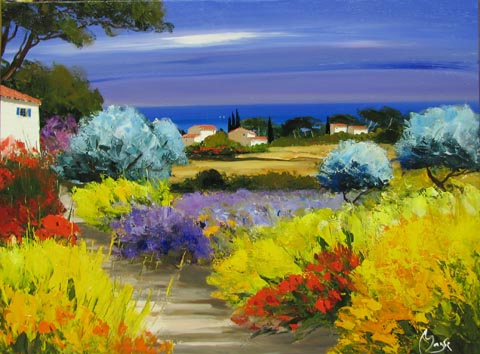 Summer Olive Grove by  Louis  Magre - Masterpiece Online