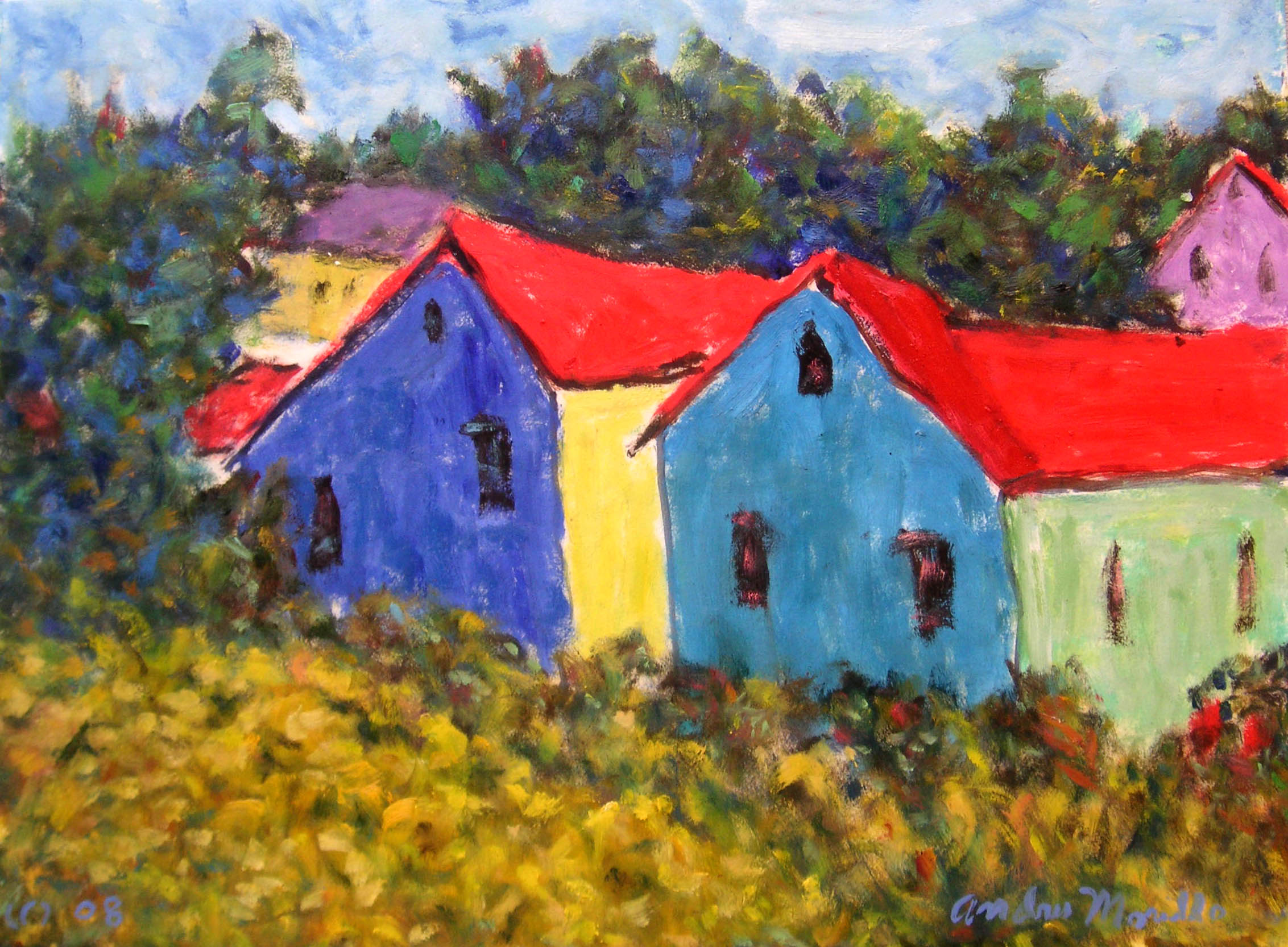 The Houses by  Andres  Morillo - Masterpiece Online