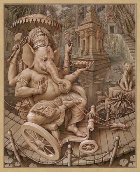 Ganesha's Journey  by  Kurt Wenner