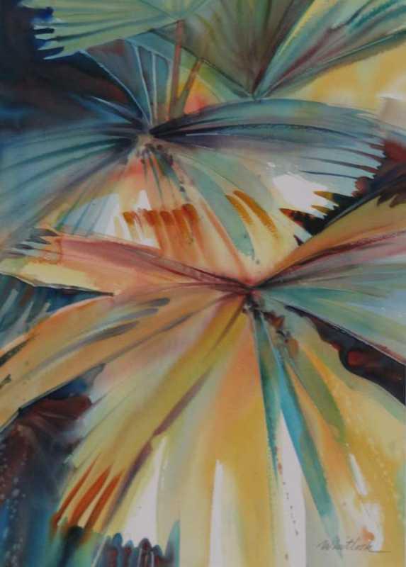 RW - 2435 - Fan Palms by  Roger Whitlock - Masterpiece Online