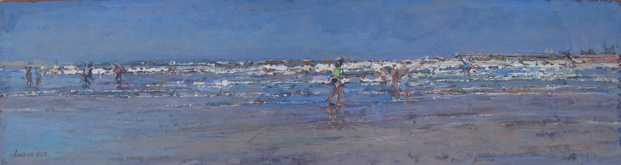 Morning Beach Walk, II by  Daud Akhriev - Masterpiece Online