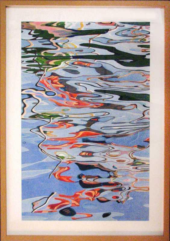 Green and Orange Boat... by  Fabienne Blanc - Masterpiece Online