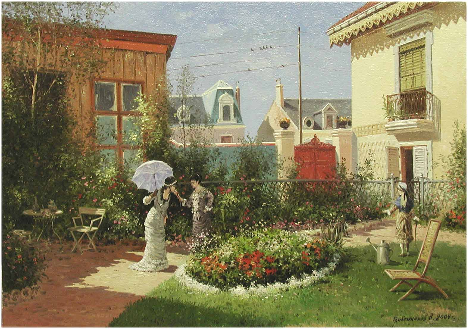 In the Garden by  Vasily Gribennikov - Masterpiece Online