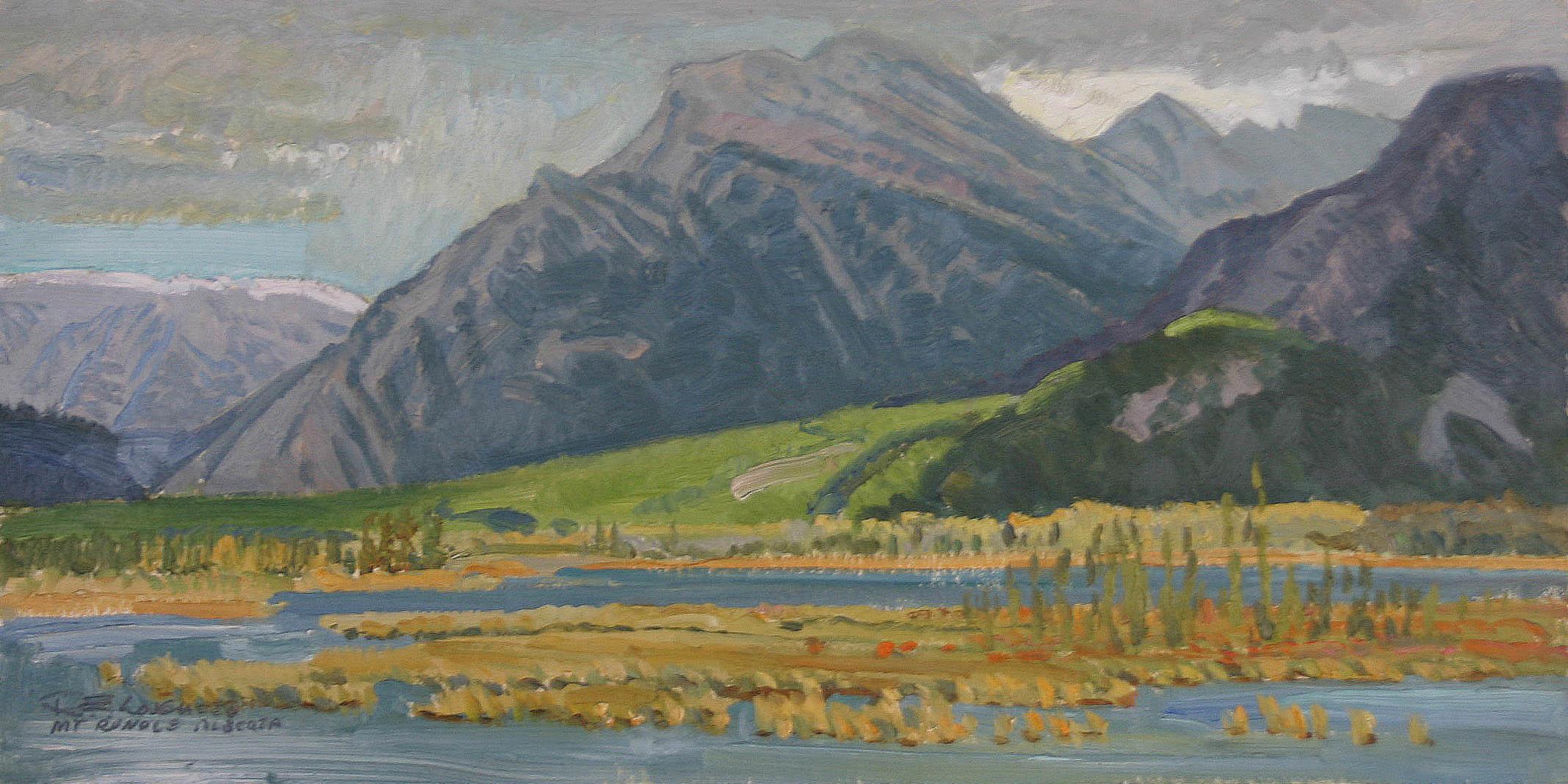 Mount Rundle - Alberta by  Robert Lougheed - Masterpiece Online