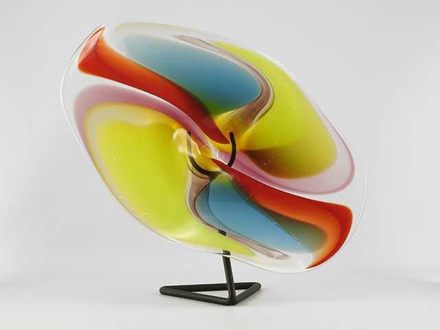 Wavy Bowl W/Stand by  Robinson Scott - Masterpiece Online