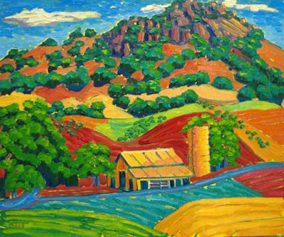Barn & Silo Under Bis... by  Char  Michelson  - Masterpiece Online