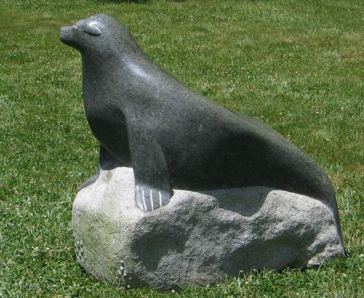 Seal on Rock by  Ben Cabot - Masterpiece Online