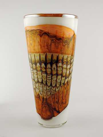 White Opal Cone Vessel by  Danielle Blade/Stephen Gartner - Masterpiece Online