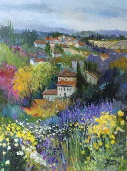 Villas on the Hillside  by  Ellen Diamond