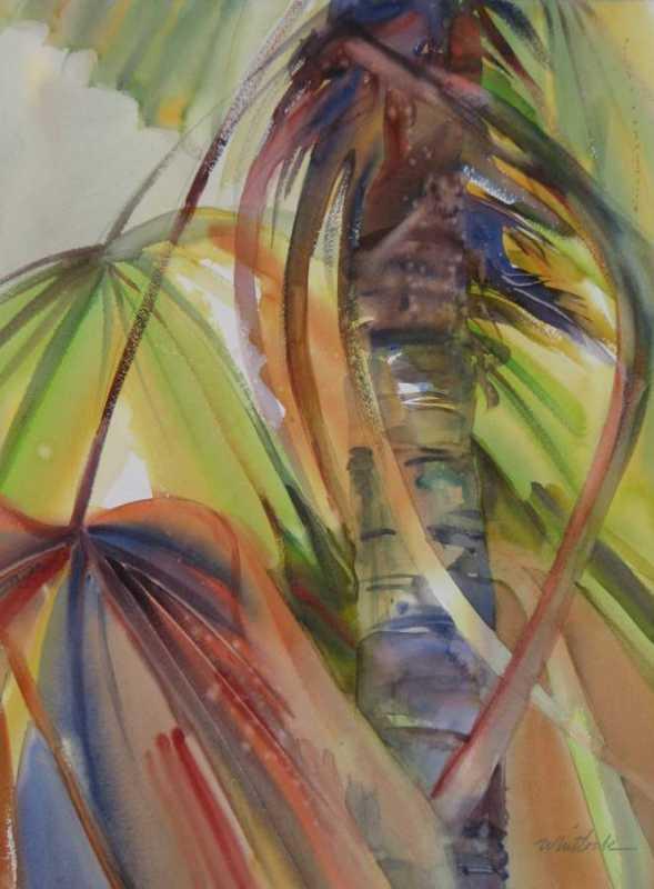 RW - 2433 - Fan Palms by  Roger Whitlock - Masterpiece Online