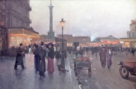 Place de la Bastille  by  Luigi  Loir