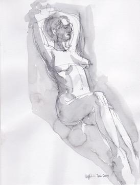 Figure Sketch: 3 by  Melissa Hefferlin - Masterpiece Online