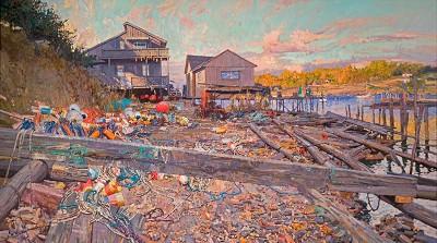 Harbor Sunset by  Daud Akhriev - Masterpiece Online
