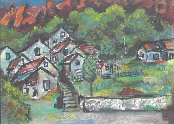 Village in Greece by  Tom Maley - Masterpiece Online