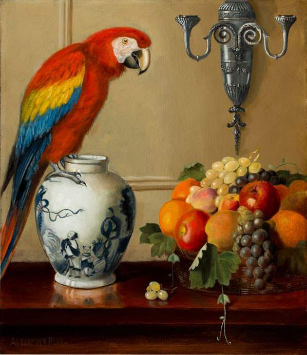 Macaw, Chinese Vase a... by  Alexander Pope - Masterpiece Online