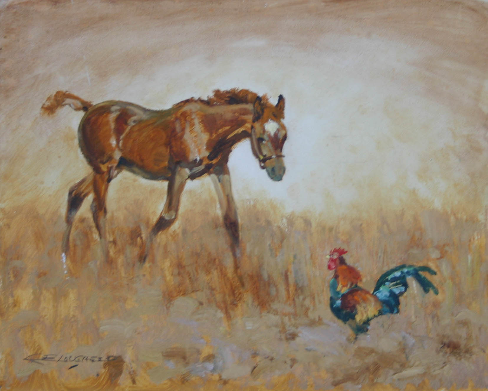 Colt & Rooster by  Robert Lougheed - Masterpiece Online