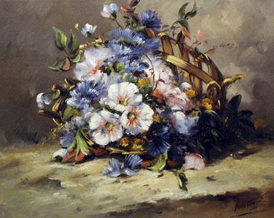 Old Basket Bouquet by  Nanne  Balyon  - Masterpiece Online