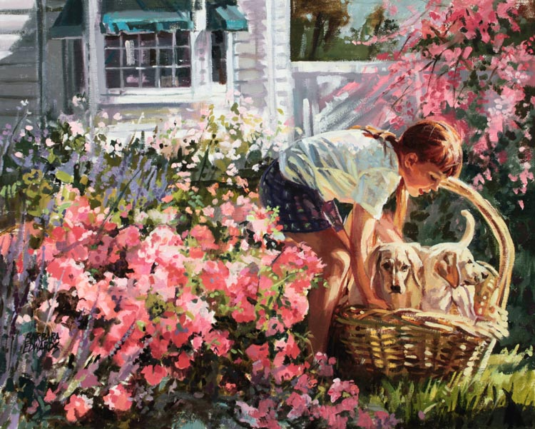 SOLD- A Basketful by  Barbara Summers Edwards - Masterpiece Online