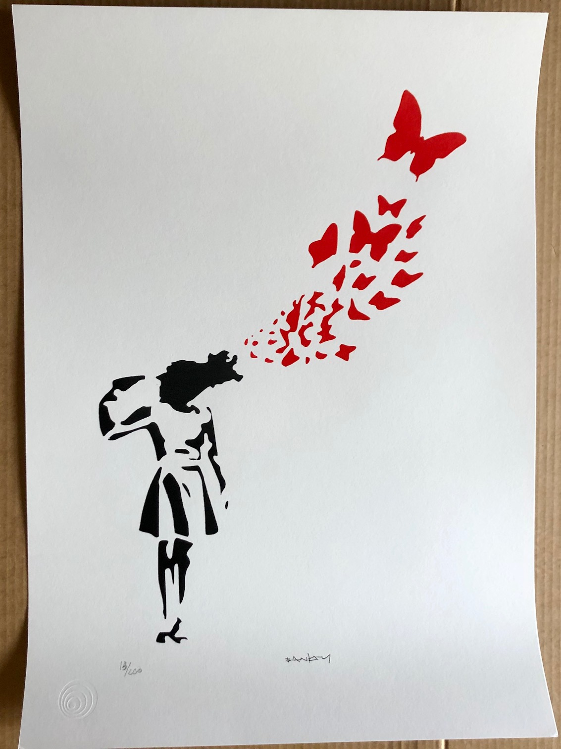 Butterfly Girl Suicid... by   Banksy - Masterpiece Online