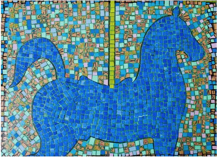 Blue Horse by Mr. Carlos Sanchez Vegas - Masterpiece Online