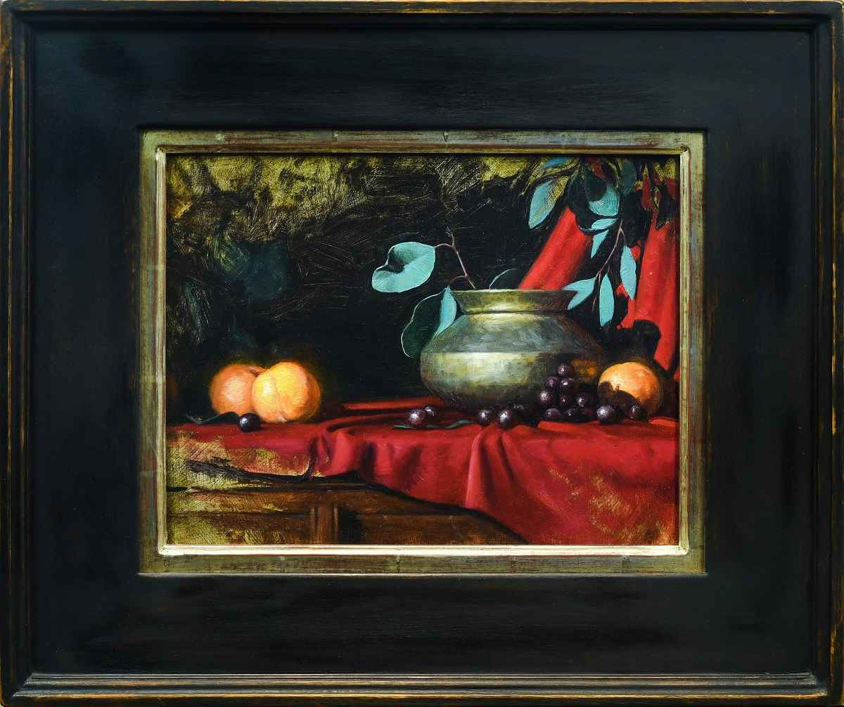 Peaches and Brass Pot by  Jeff Ward - Masterpiece Online