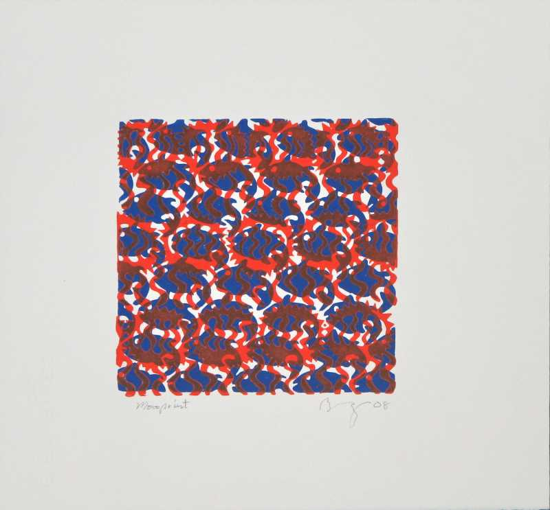 Monoprint (Dk. Blue/O... by  Brendt Berger - Masterpiece Online