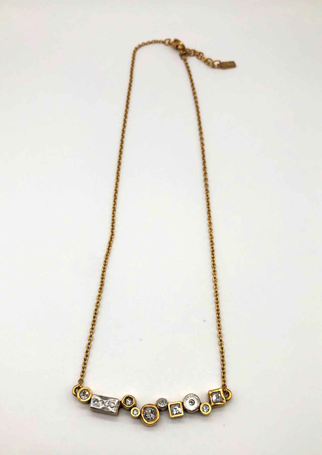 Danae Necklace in Gold, All Crystal