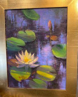 Waterlilies by  Julia Lesnichy - Masterpiece Online