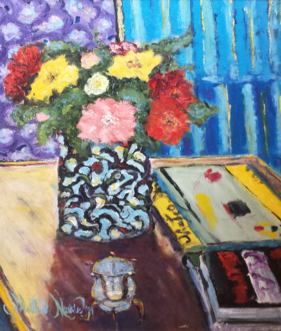 Still Life on a Coffe... by  Matthew Morillo - Masterpiece Online