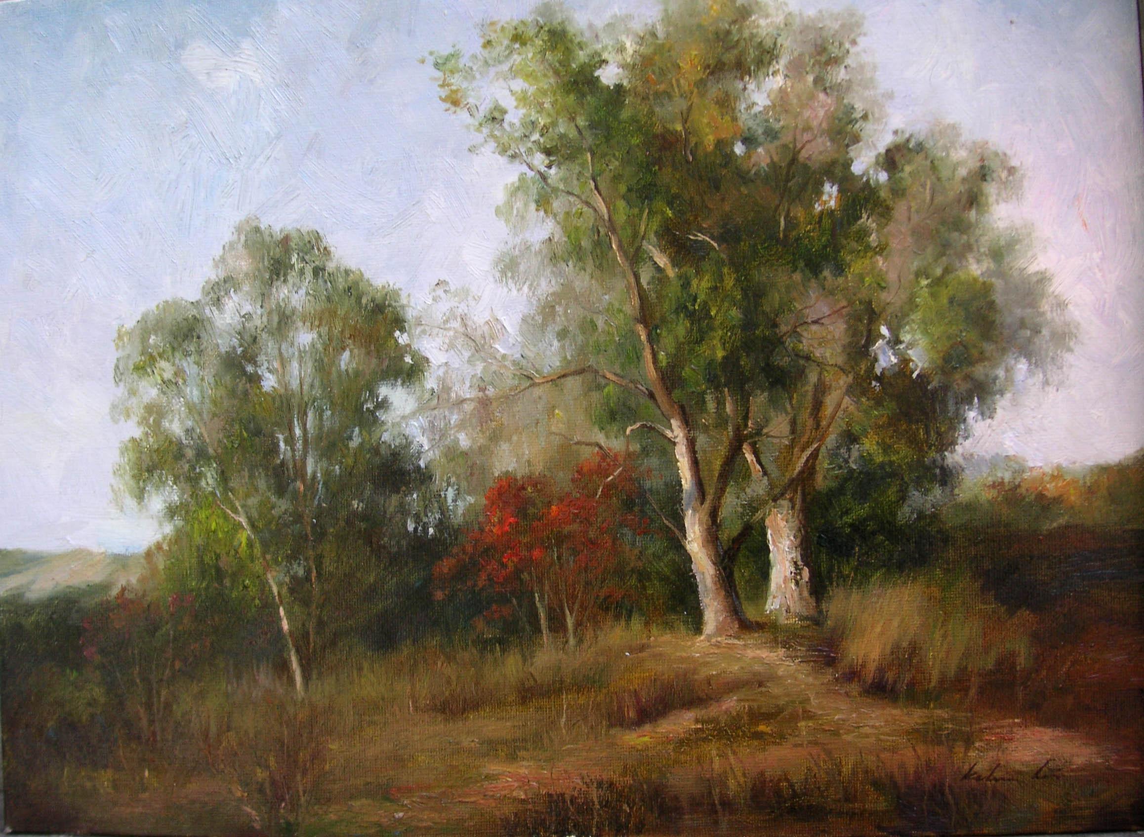 Hilside Trees by  Kelvin  Lei - Masterpiece Online