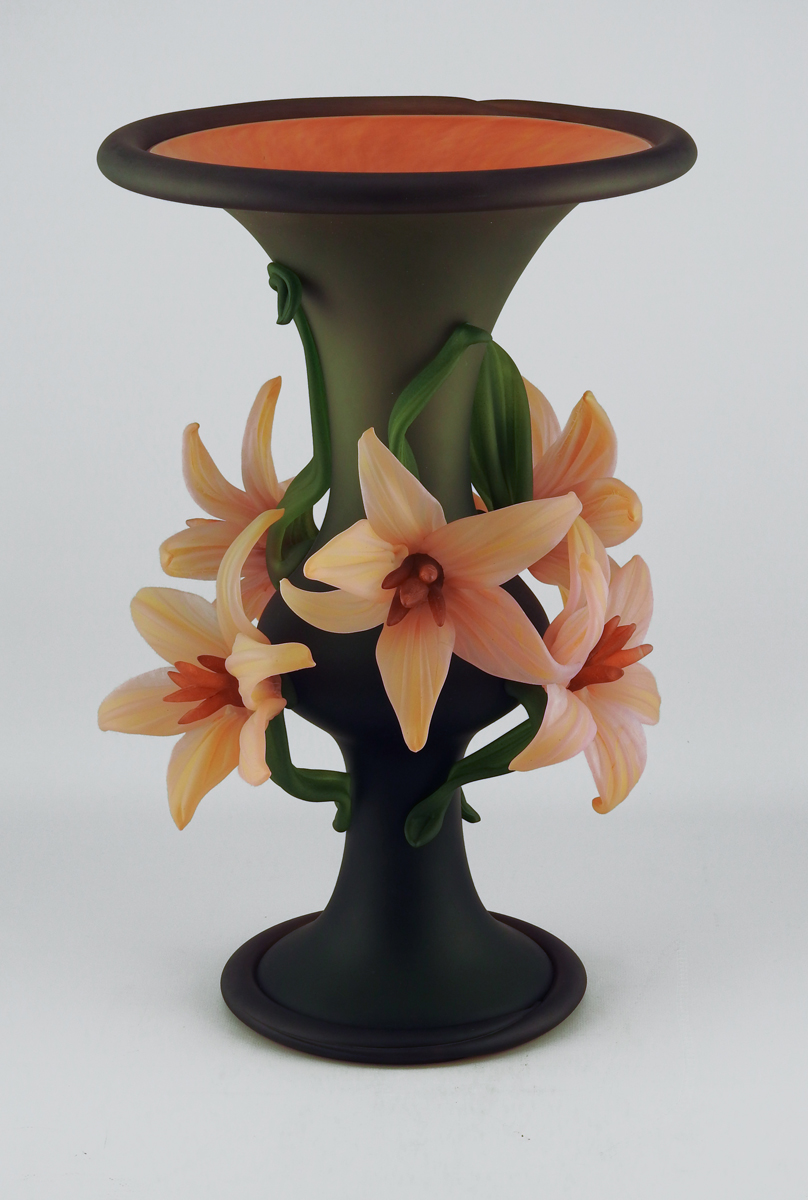 Large Flower Vase/Gre... by  Susan Rankin - Masterpiece Online