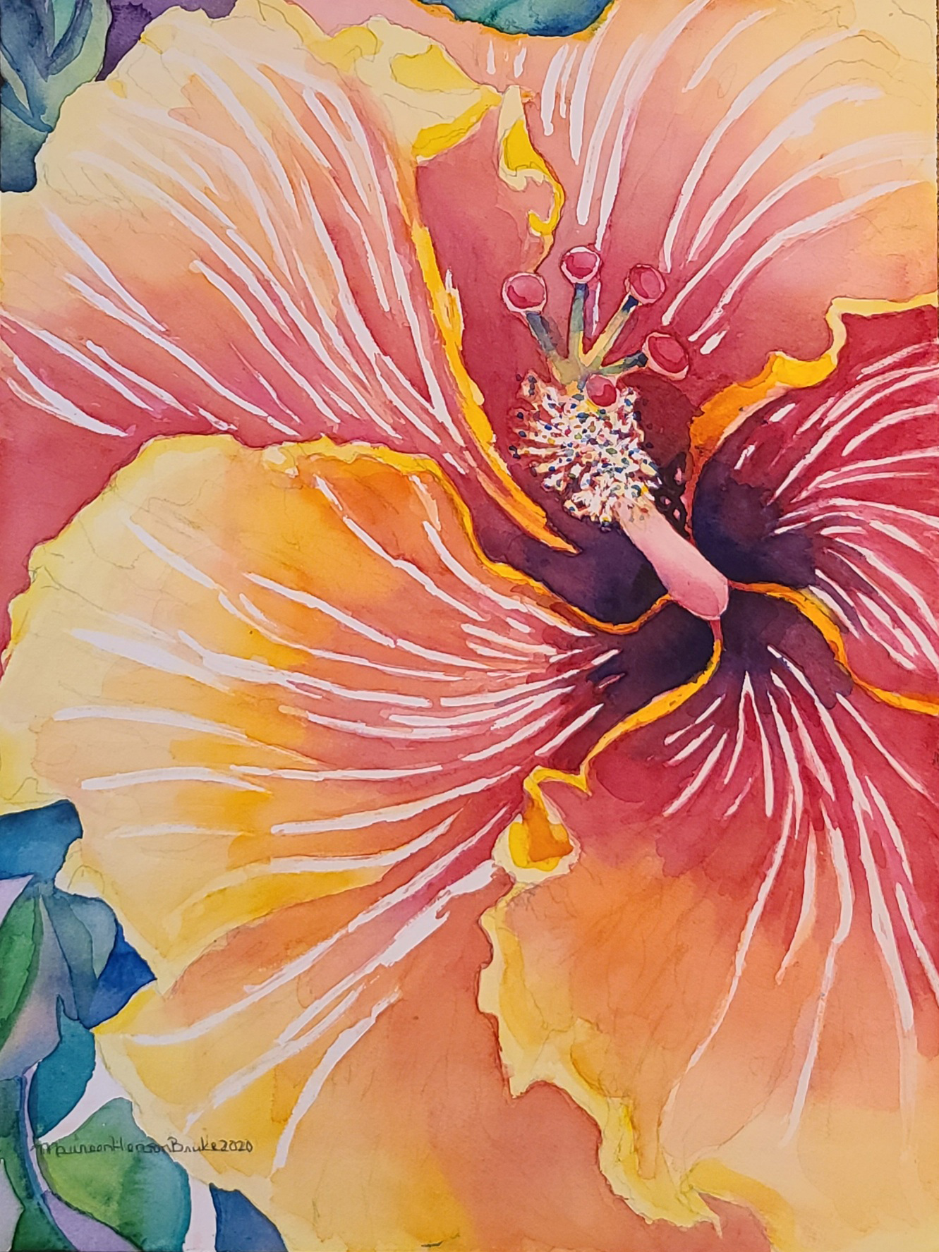 Kauai Hibiscus 1 by  Maureen Henson-Brunke - Masterpiece Online