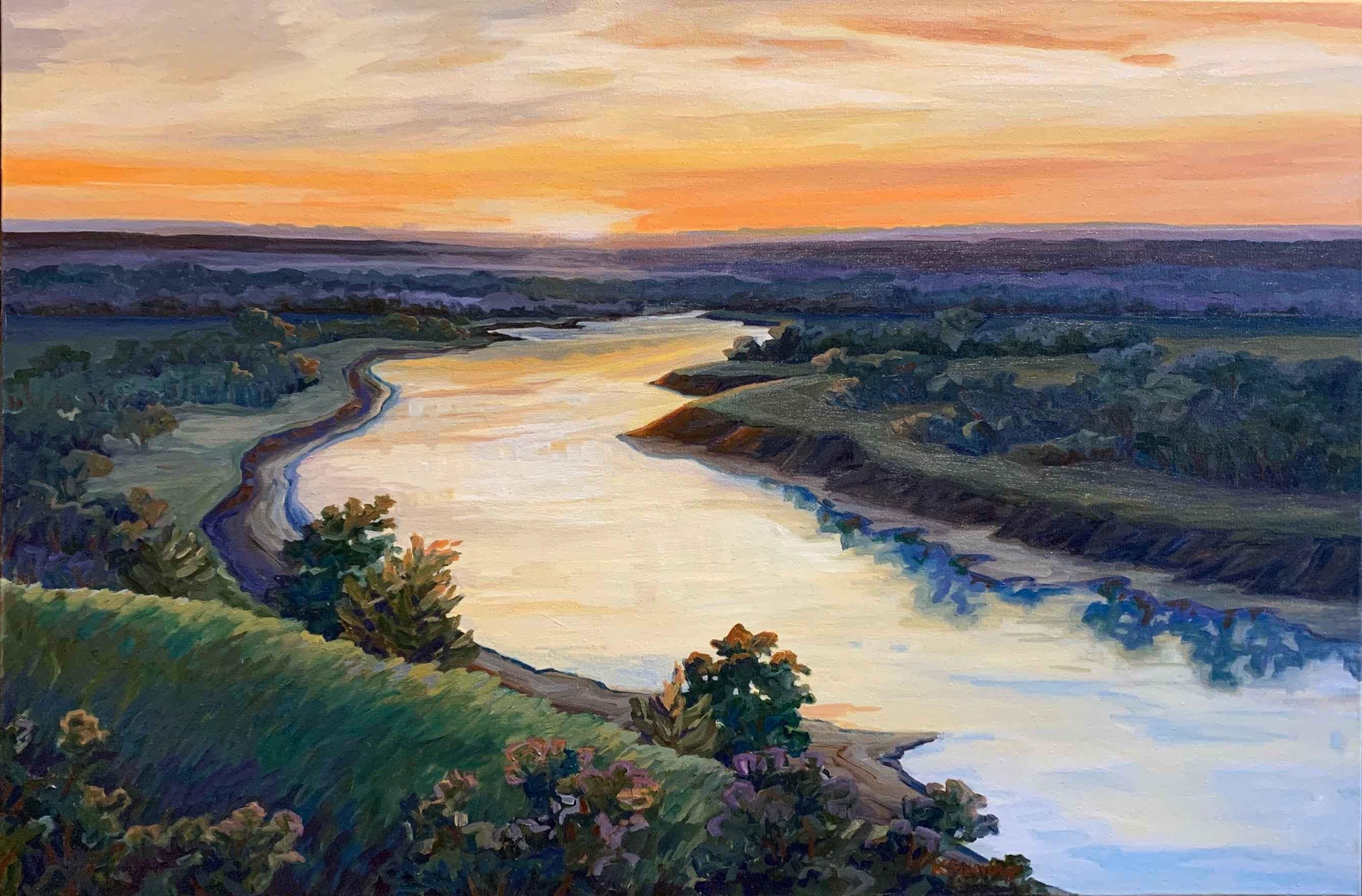 Kansas River Sunset by  Kristin Goering - Masterpiece Online