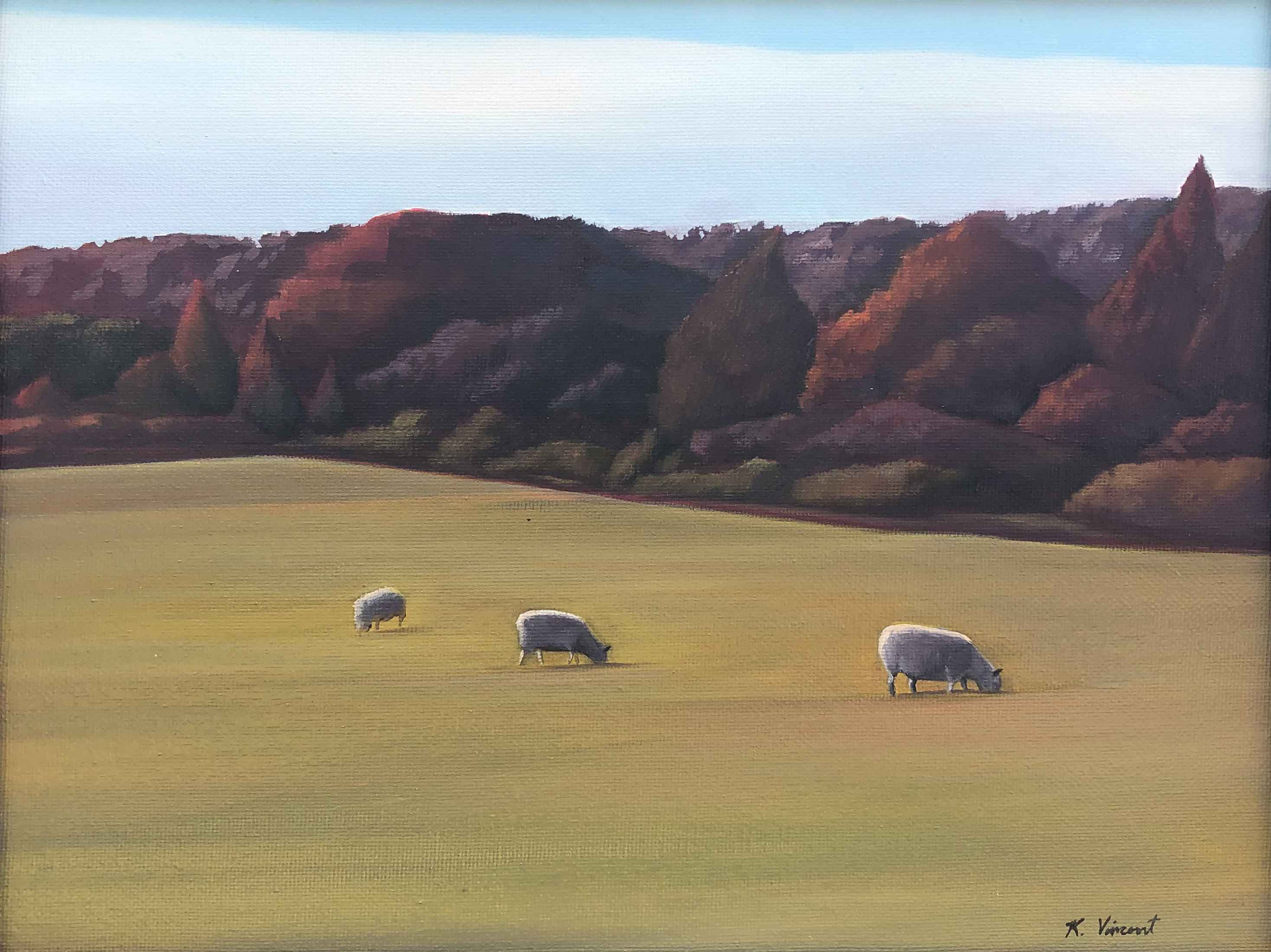 Sheep at Whiting Farm by  Kenneth Vincent - Masterpiece Online