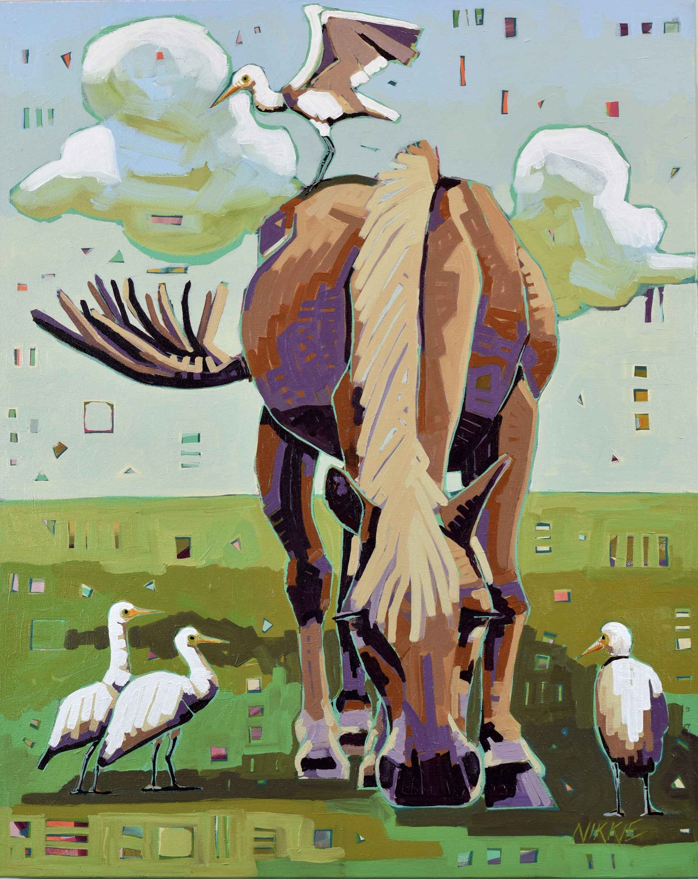 Hooves and Feathers by  Nikkie Markle - Masterpiece Online
