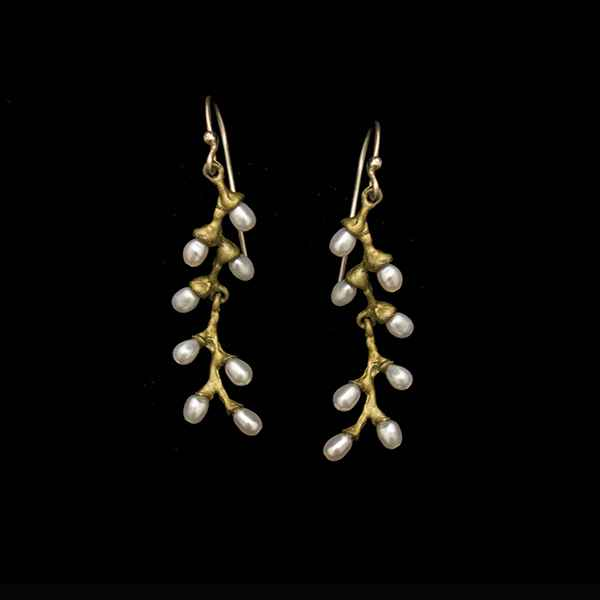 Rice Pearl Wire Earrings