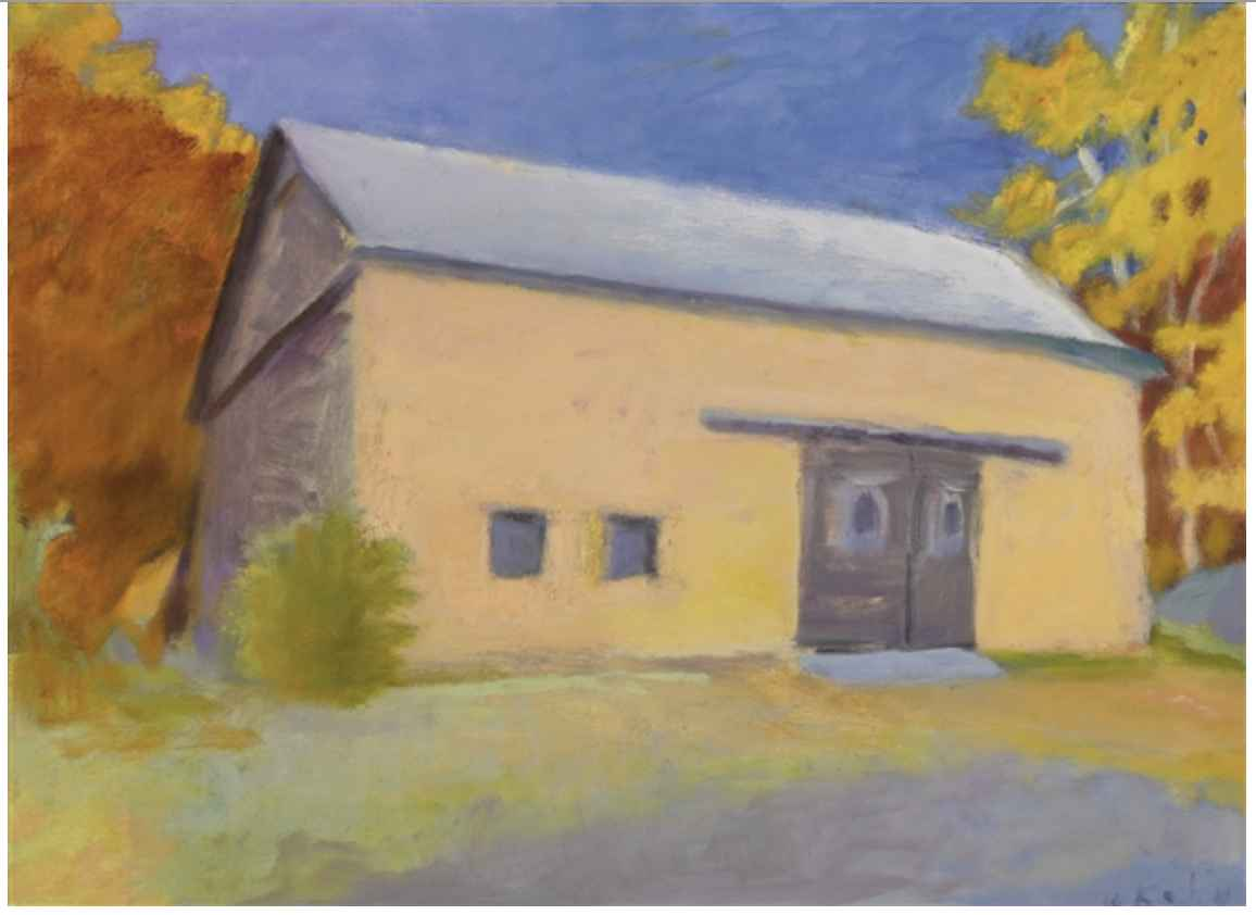 Barn on Ames Hill Roa... by  Wolf Kahn - Masterpiece Online