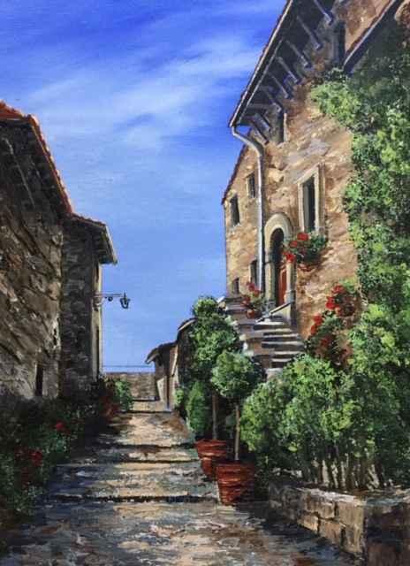 Tuscan Streets by  Janet Liesemer - Masterpiece Online