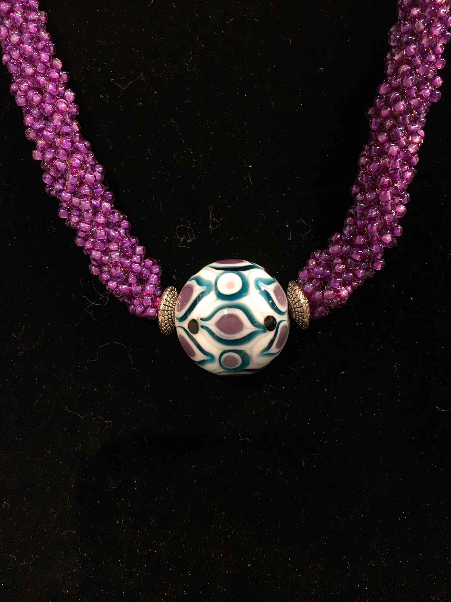 Purple Necklace-Singl...  by   Artisan Jewelry
