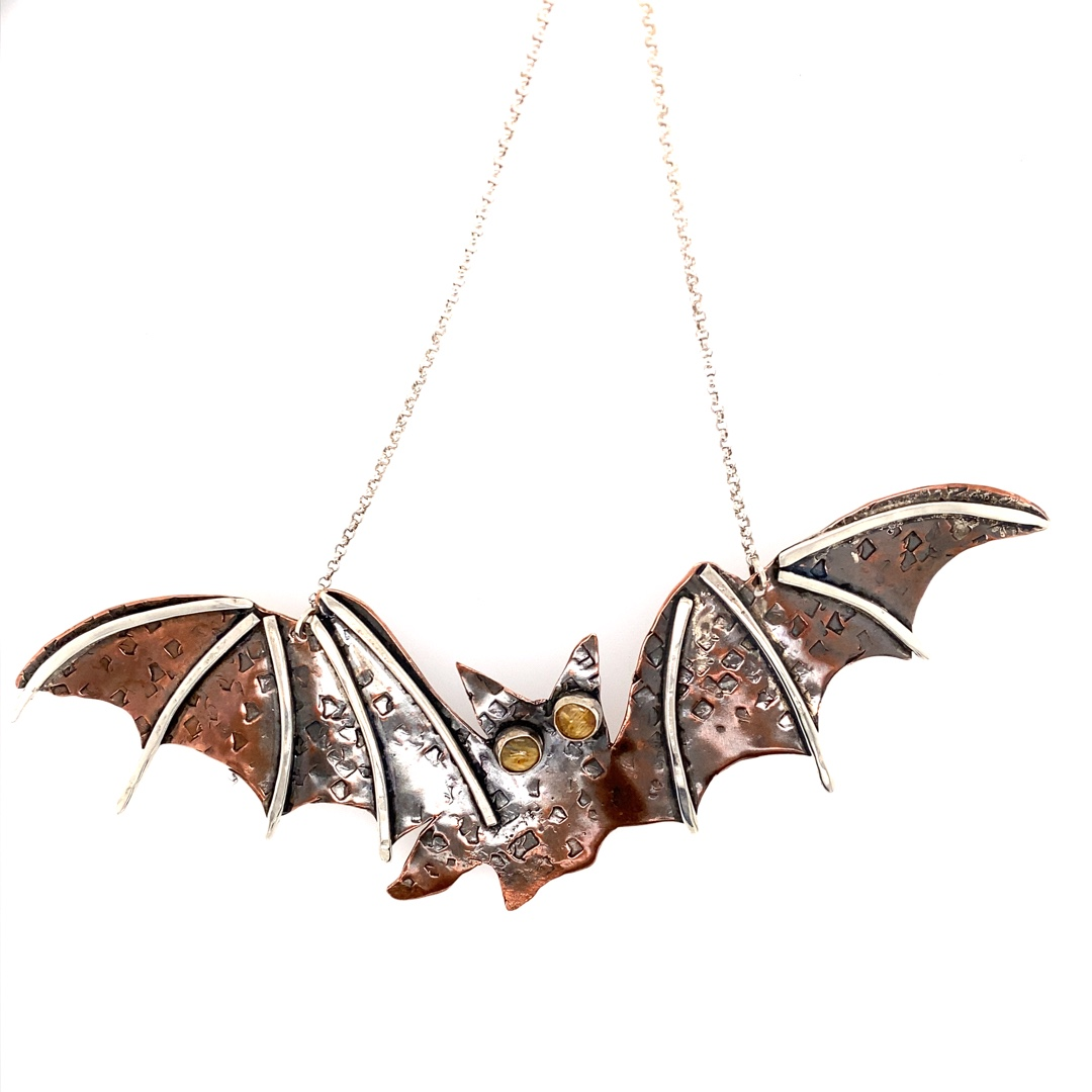 Bat Copper Silver - Rutilated Quartz