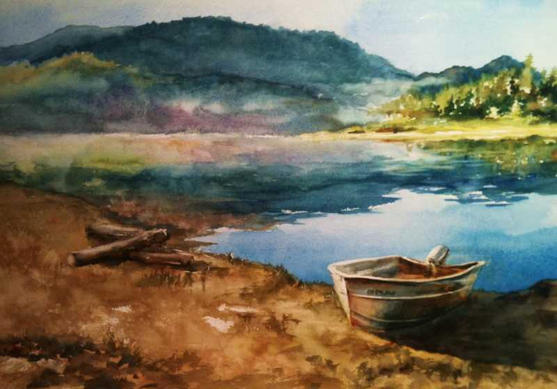 Morning Respite  by Mrs Denise Cole - Watercolors