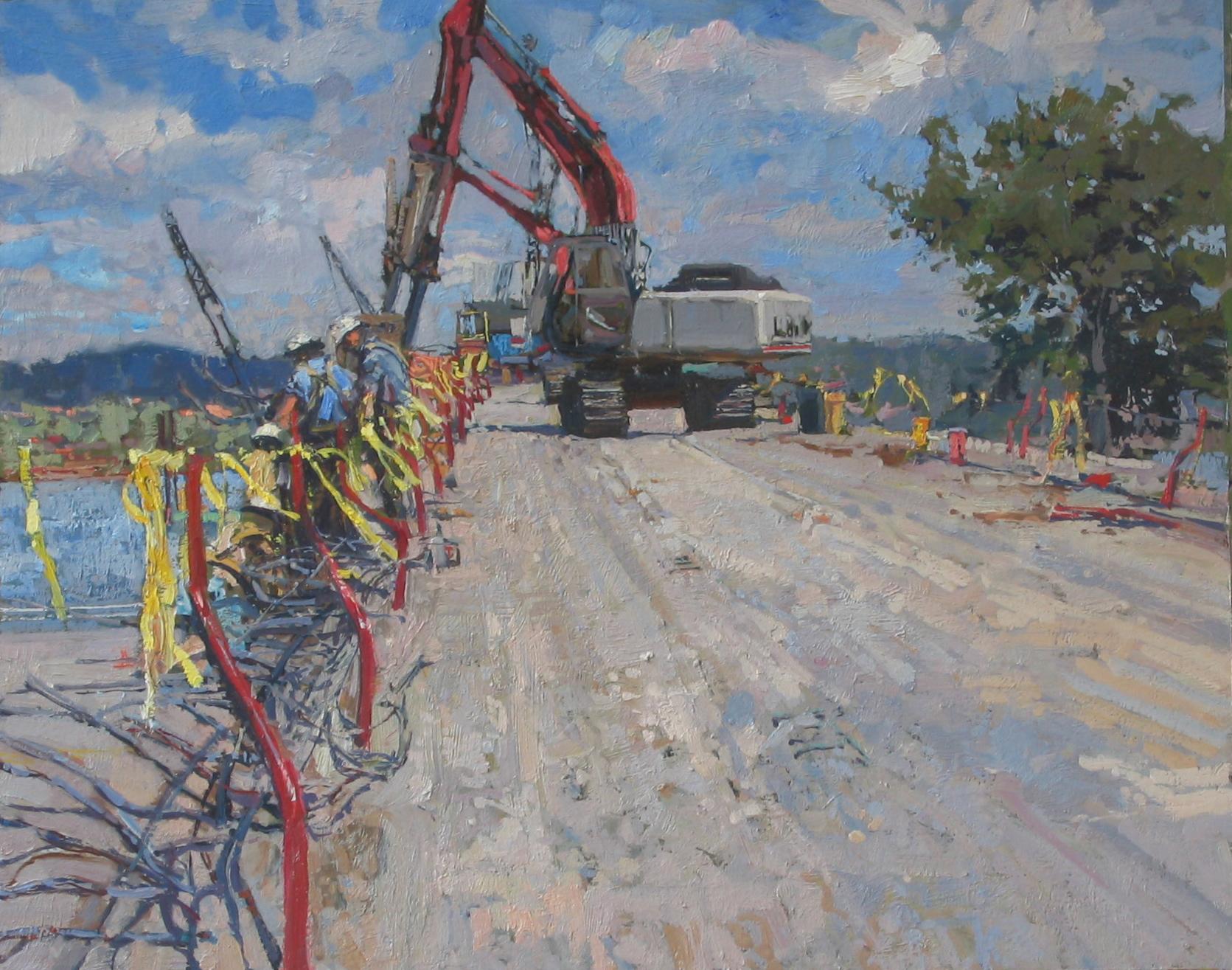 Heavy Machinery on th... by  Daud Akhriev - Masterpiece Online