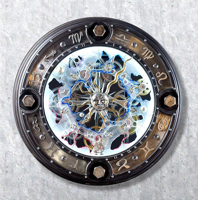 Astrological Clock by  Dale Mathis - Masterpiece Online