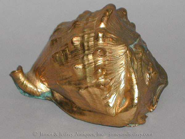Gilded Conch Shell by  None None - Masterpiece Online