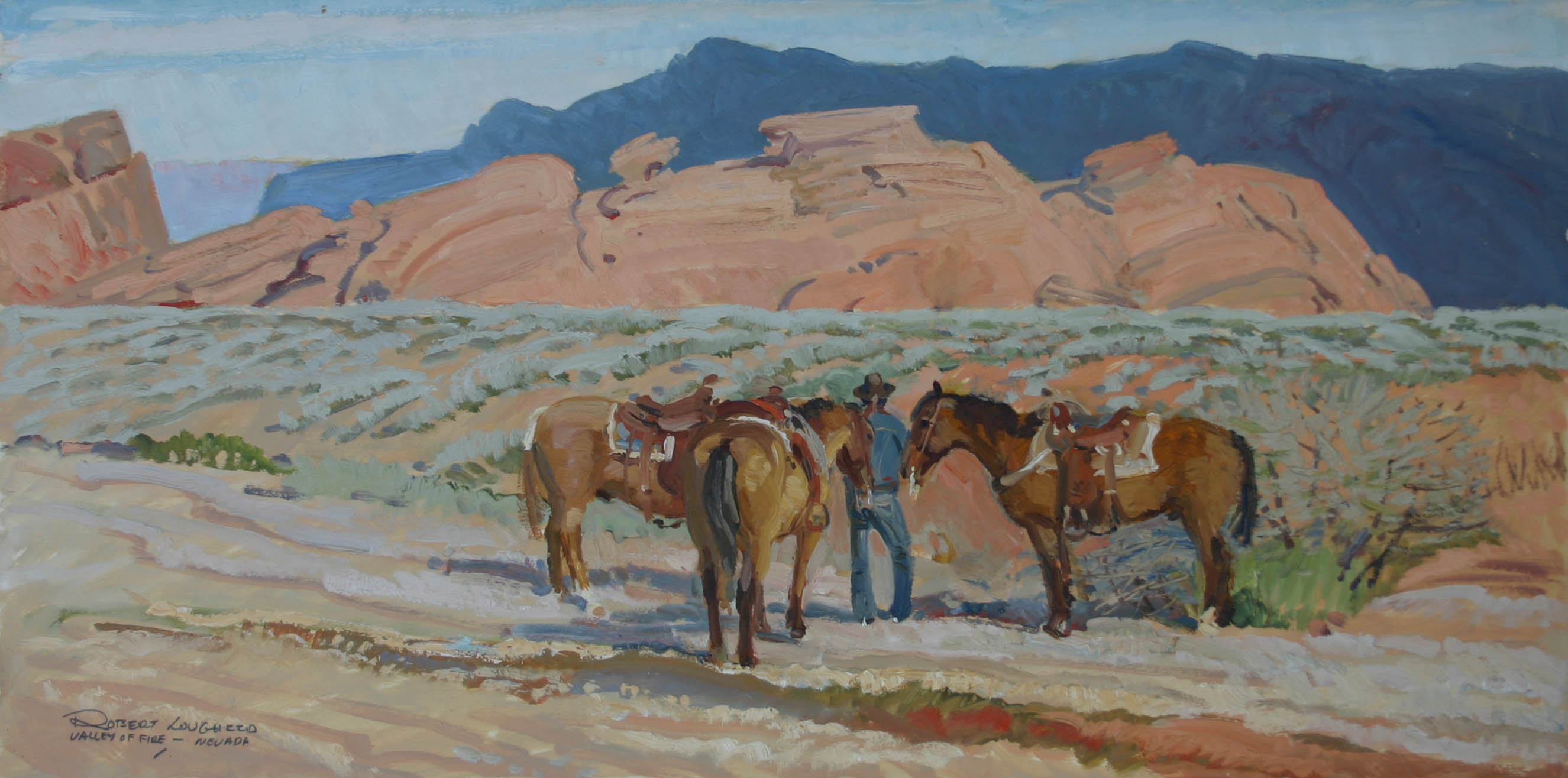 Nevada - Valley of Fi... by  Robert Lougheed - Masterpiece Online