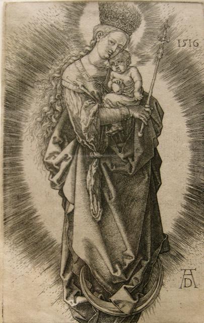 Virgin of the Crescen... by  Albrecht Durer (1471-1528) - Masterpiece Online