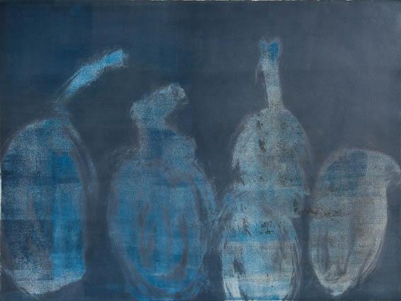 Five Blue Pods  by  Angela Hayson - Masterpiece Online