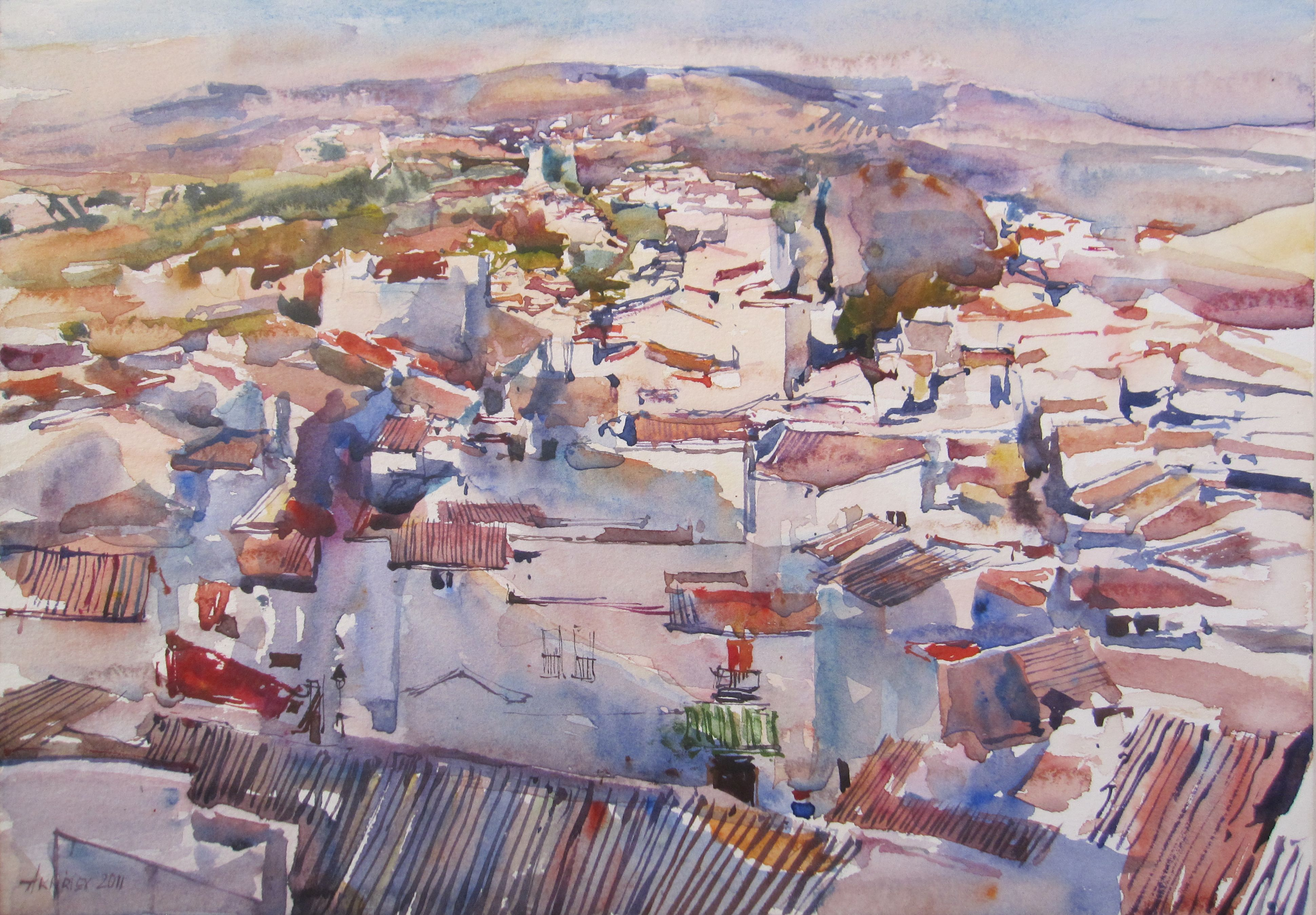 Olvera, View From the... by  Daud Akhriev - Masterpiece Online