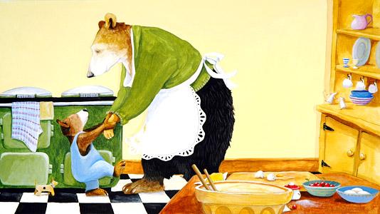In The Kitchen by  Anita Jeram - Masterpiece Online